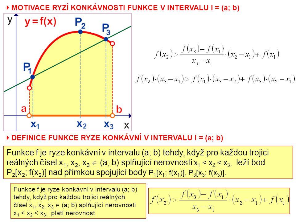 P2[x2; f(x2)] nad přímkou spojující body P1[x1; f(x1)], P3[x3; f(x3)].